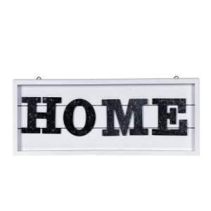 Skylt Home Silver/Vit