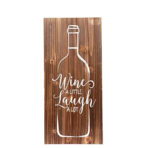 Skylt Vinflaska Natur