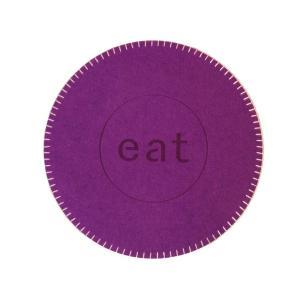 Tablett Eat filt kastsöm Lila