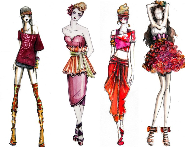 Fashion Illustration   Drowning In Design Have you ever wondered how to draw the fashion illustrations you see in  designer s sketches  artwork  and other media  Get ready to learn  because  I m going