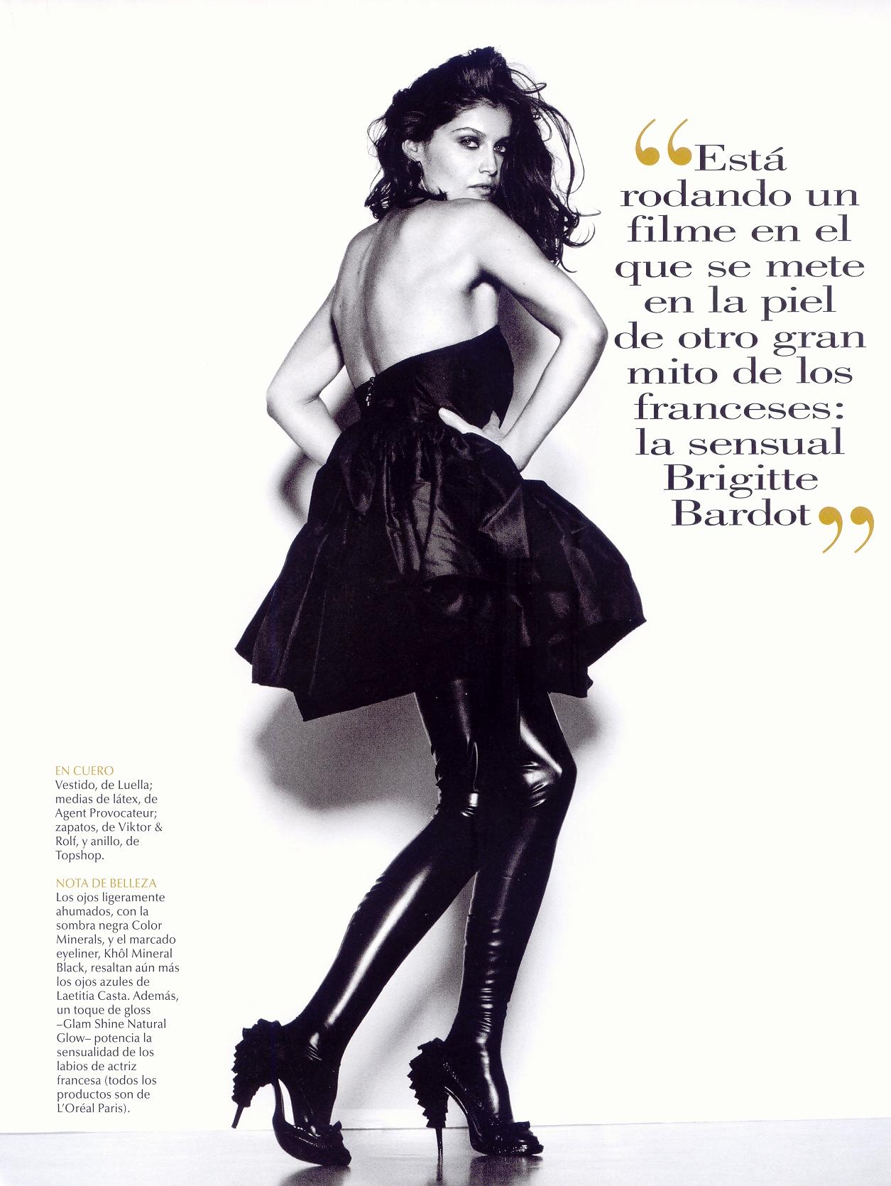 Laetitia Casta Fashion Editorial For Vogue Espana Beauty