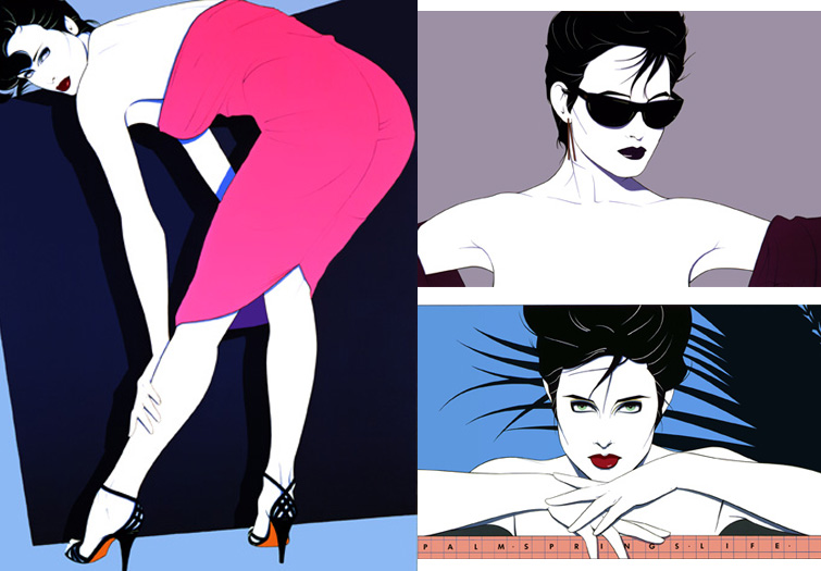 Patrick Nagel 80s Fashion Illustrations