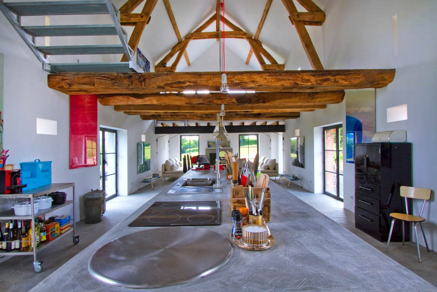 BACK TO Old French Barn Converted into Family Home
