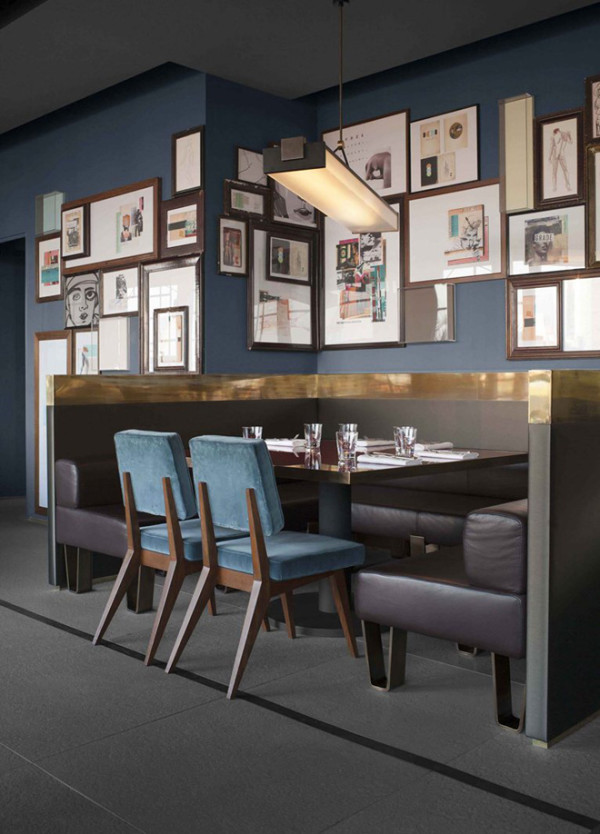 Ceresio 7 Resturant designed by Dimore Studio for Dsquared Twins