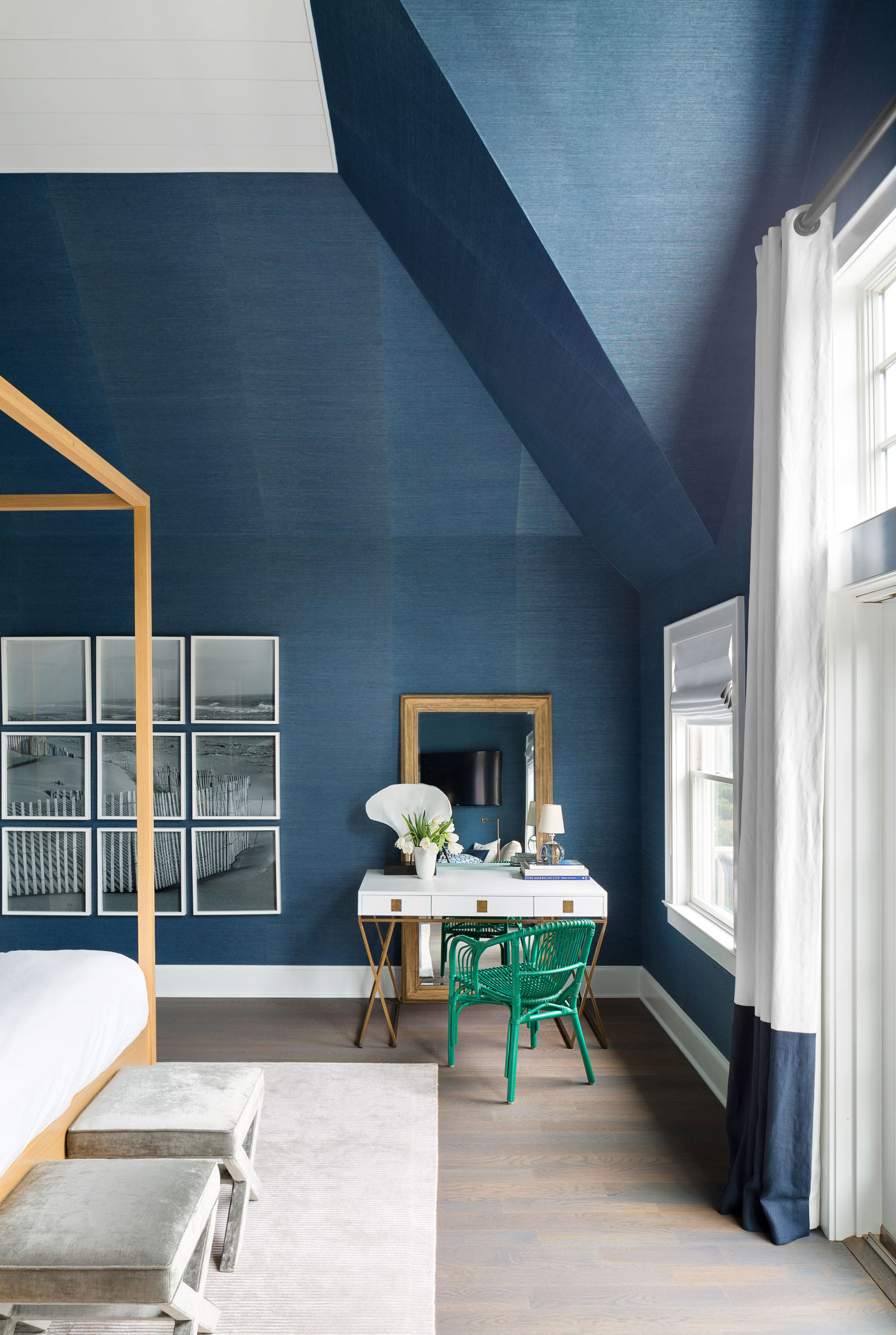 This Hamptons Home Proves That Feeling Blue Doesnu0027t Have To Be A Bad Thing.  Intended To Recall The Colors Of The Ocean, The Beachy Shade Used Here ...