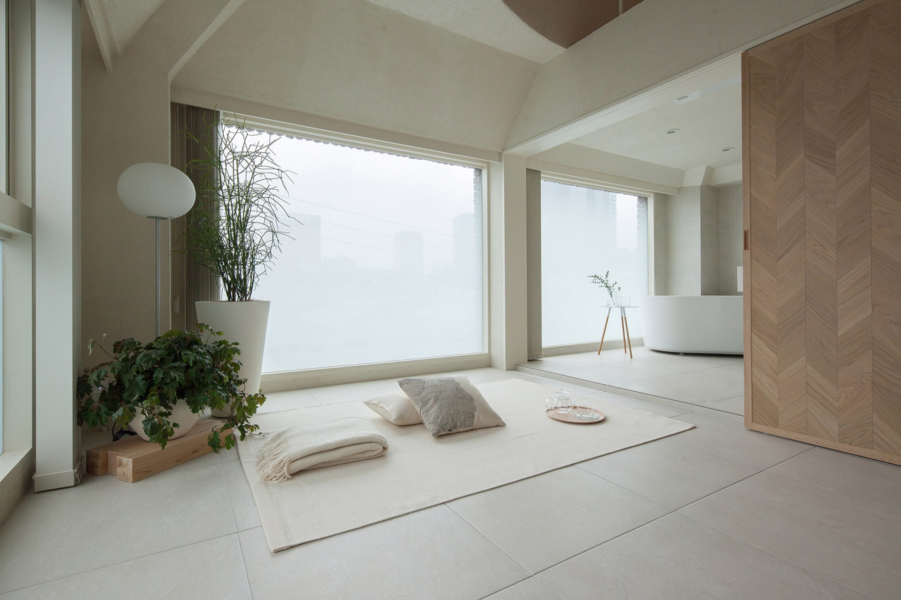 The Serene Ambiance Of The Shibuya Apartment 402 Is A Breath Of Fresh Air  And Calm, Compared To The Fast Paced World That Awaits Outside.