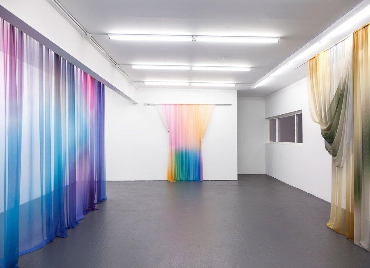 Justin Morin's 'Equilibrium' Printed Silk Installation