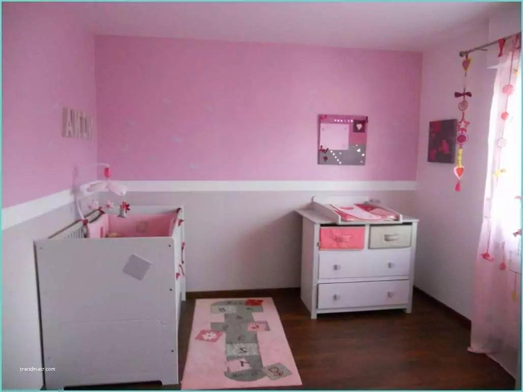 Chambre Fille Blanc Et Rose Chambre De Fille Aux Murs Gris