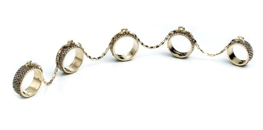 Eddie Borgo x The Webster Collection: PAVE 5 FINGER RING