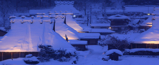 京都 美山かやぶきの里「雪灯廊」