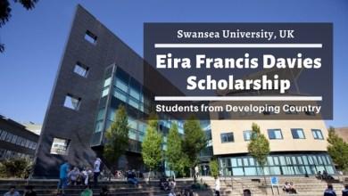 Eira Francis Davies Scholarship - Swansea University UK