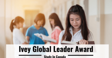 Ivey Global Leader Award Canada 2021- 2022 (Fully funded MBA)