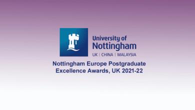Nottingham Europe Postgraduate Excellence Awards, UK 2021-22