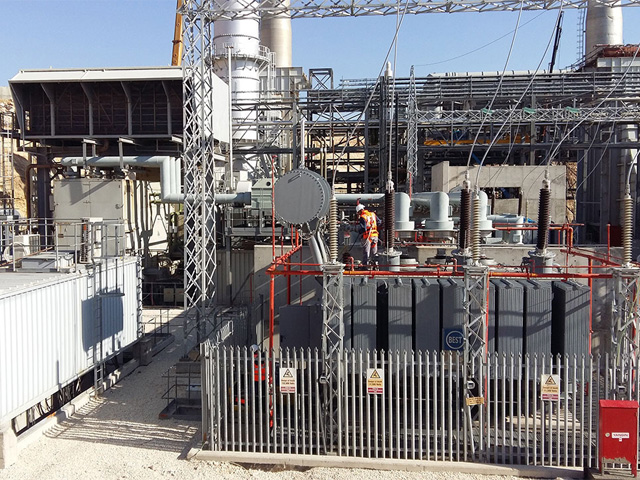 power plant installation