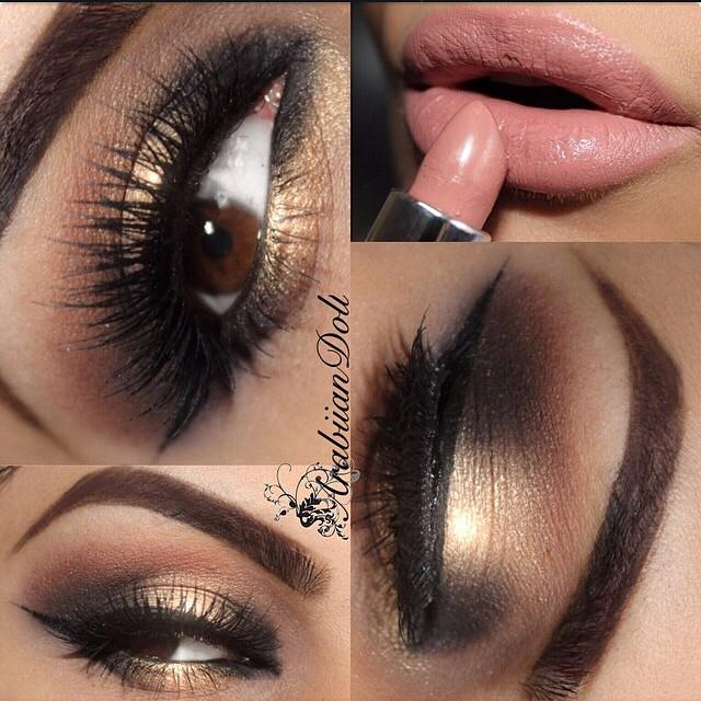 Soft Gold Smokey Eye