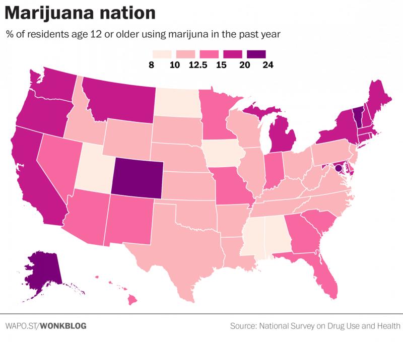 Map: US Marijuana Use