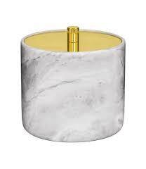Boite à coton en marbre
