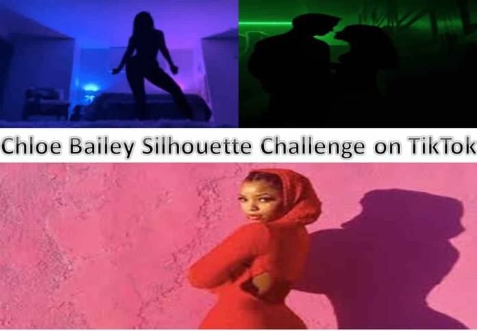 Chloe Bailey Silhouette Challenge on TikTok