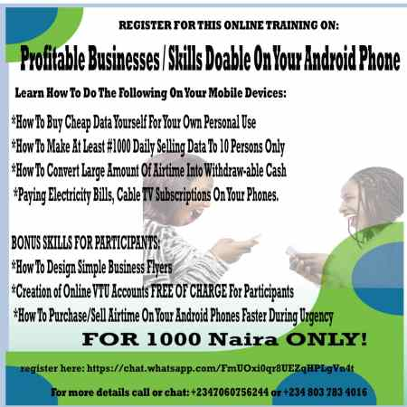 Money Making Businesses & Skills On Android Phones