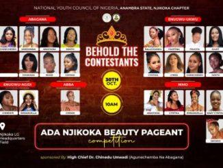 Ada Njikoka Beauty Pageant 2021 Contestants