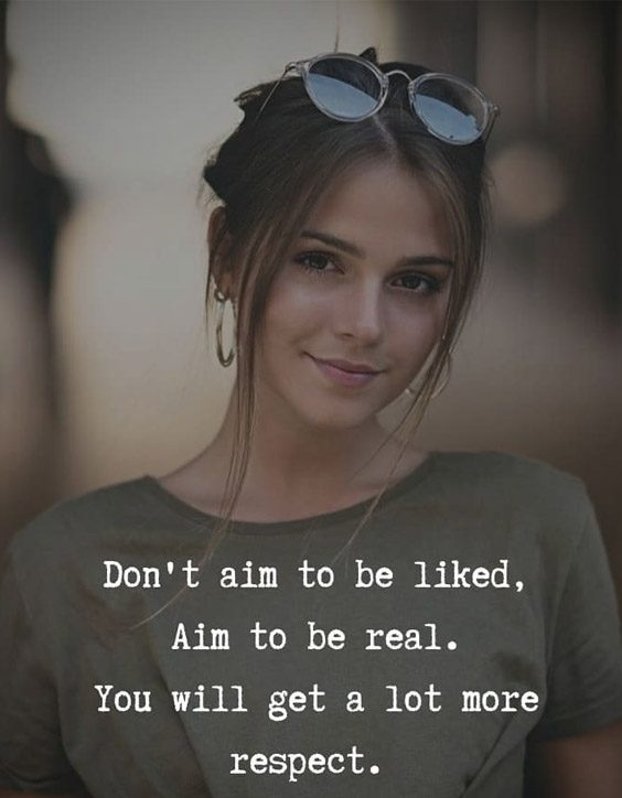 Aim to be Real - Inspirational Quotes & Sayings
