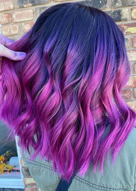 Amazing Purple to Pink Hair Color Shades to Show Off in 2020