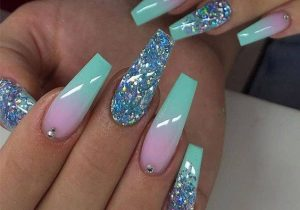 Cool Long Nail Designs with Starry Look In 2020