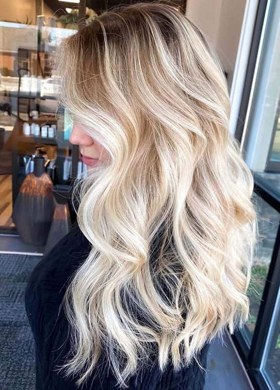 Awesome Bright Blonde Hair Colors with Dark Roots in 2020
