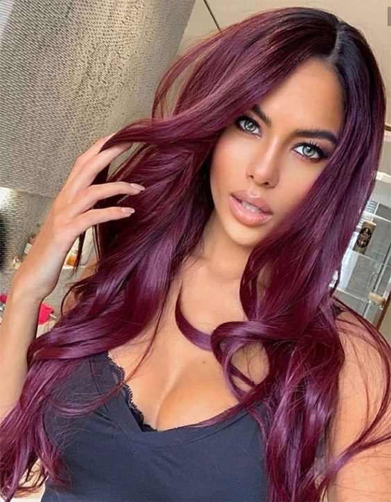 Delightful Red Hair Color Ideas for Long Hair