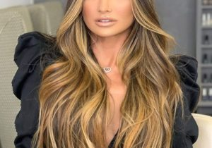Perfect Brown Highlights on Blonde Balayage Hair for 2020