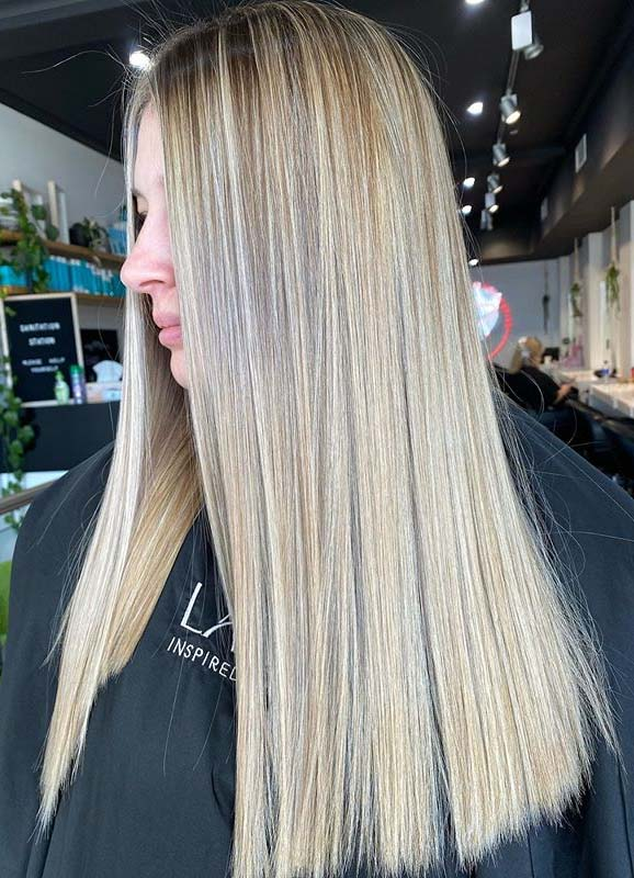 Sleek and Straight Balayage Hair Colors to Show Off in 2020