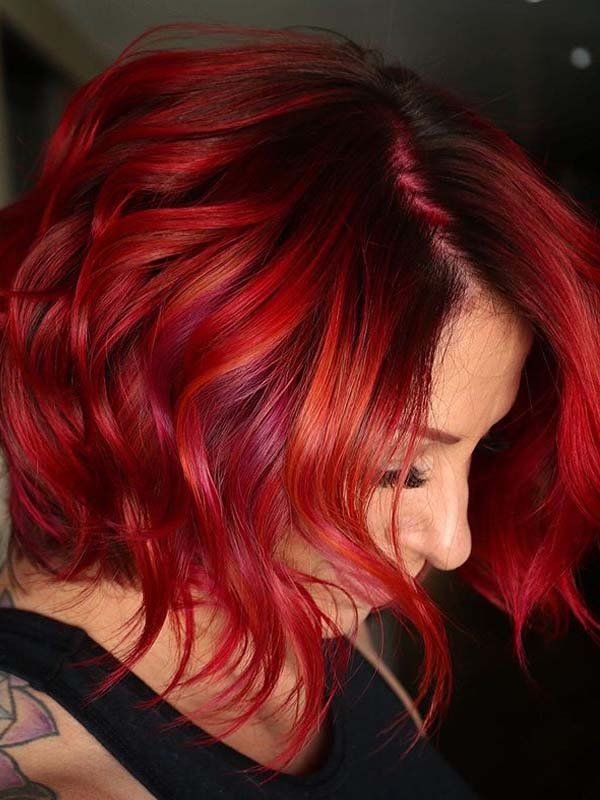Beautiful red textured haircuts for Women to Show Off in 2020