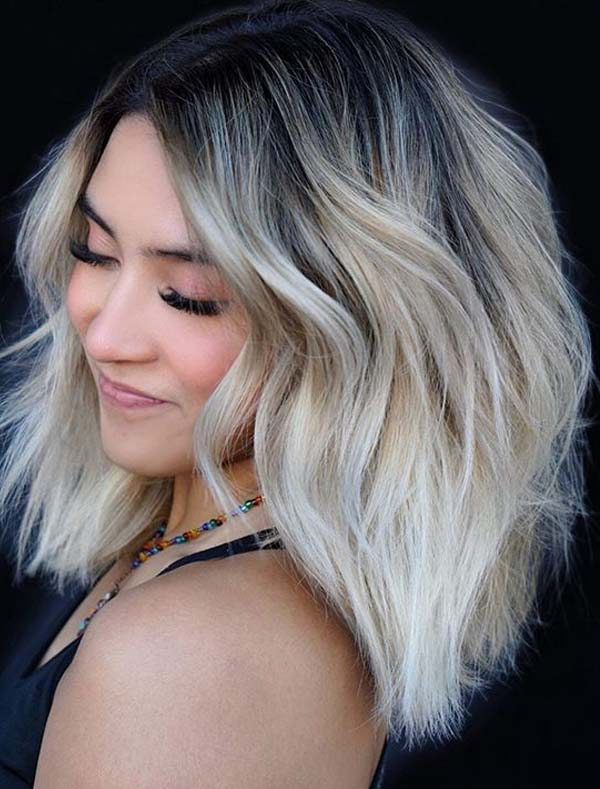 Beautiful platinum blonde balayage hair color ideas for 2020