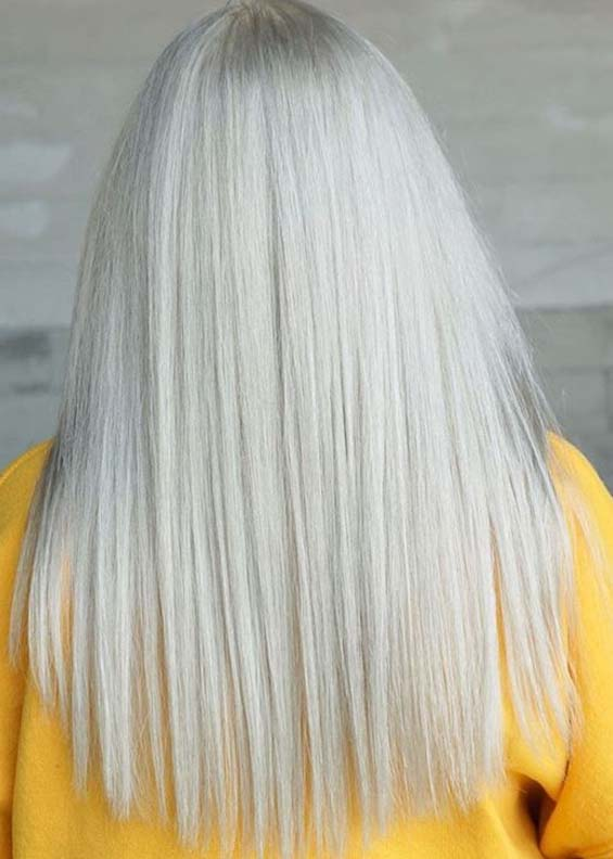Awesome Platinum Blonde Hair Color Trends for Women 2020