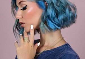 Fabulous Look of Blue Hair Color for Short Hair