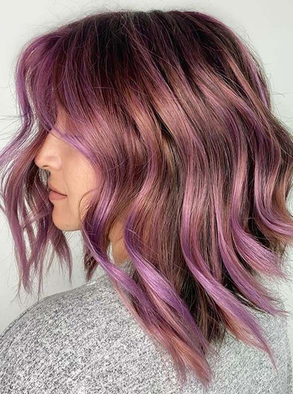 Awesome metallic mauve hair color for Ladies in 2020