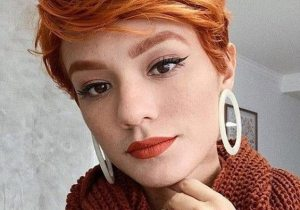 Charming Style of Red Hair for Short Hair