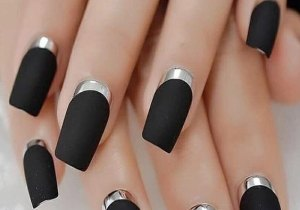 Most Unique & Edgy Black Nails Trend for Girls