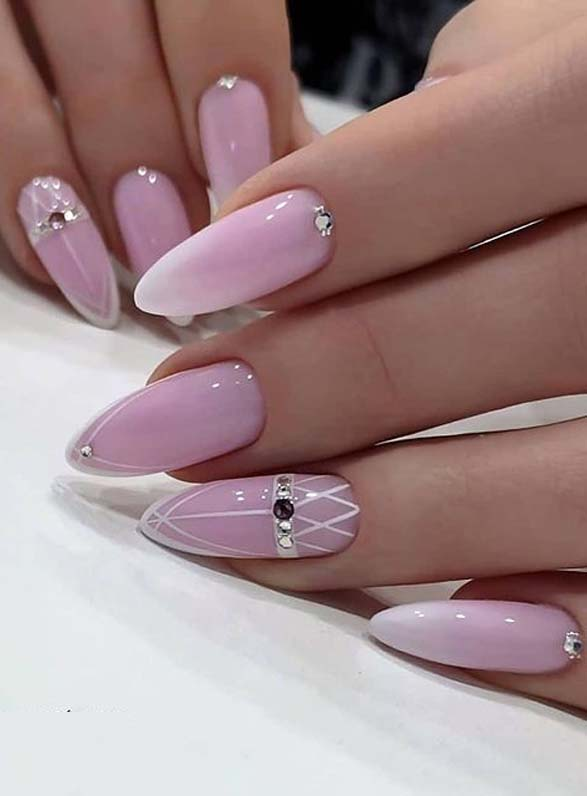 Fresh Pink Nail Arts for Ladies to Try
