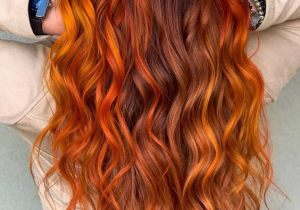 Adorable Red Hair Color & Highlights for Long Hair