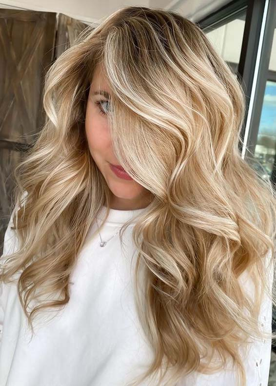 Perfect Golden Balayage Hair Color Trends