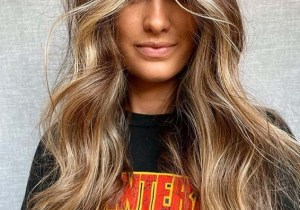 Elegant bronzed Hair Color Highlights