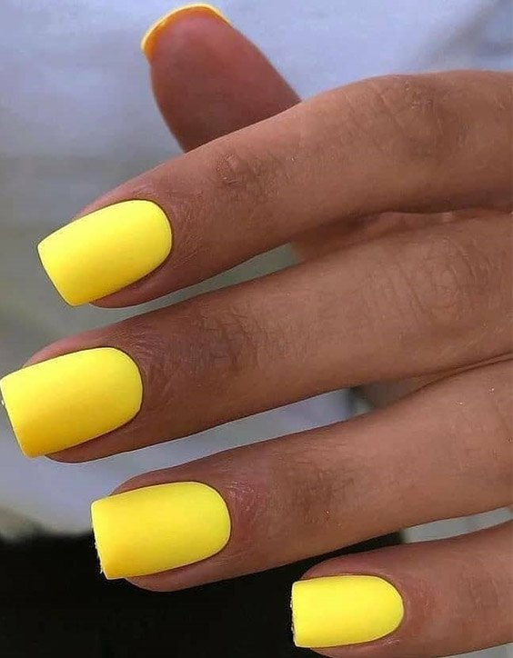 Marvelous Yellow Nail Ideas for Teenage Girls