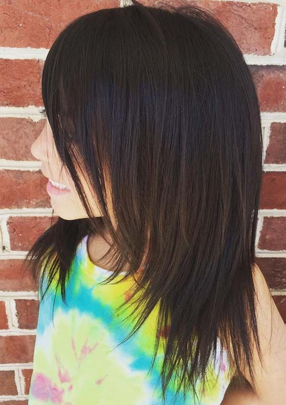 Mixed kids Layers Hairstyles with Bangs