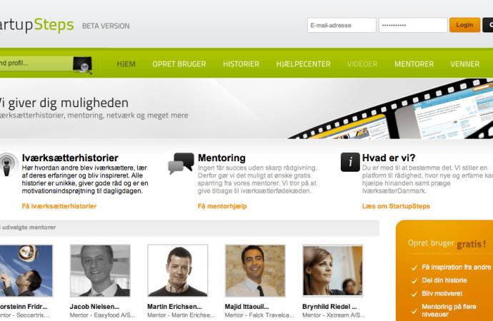 Update – Startupsteps.dk de første skridt mod succes