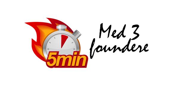 Fem minutter med tre startup foundere