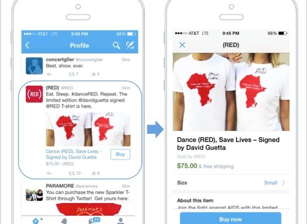 Twitters købsknap blev introduceret ved London Fashion Week
