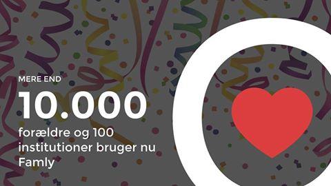 Famly runder milepæl: 10.000 brugere og 100 institutioner