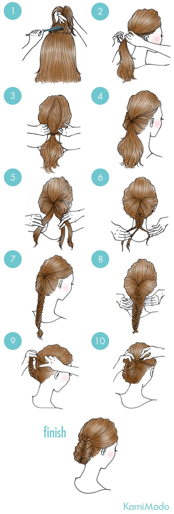 INVERTED AND BRAIDED Hairstyle