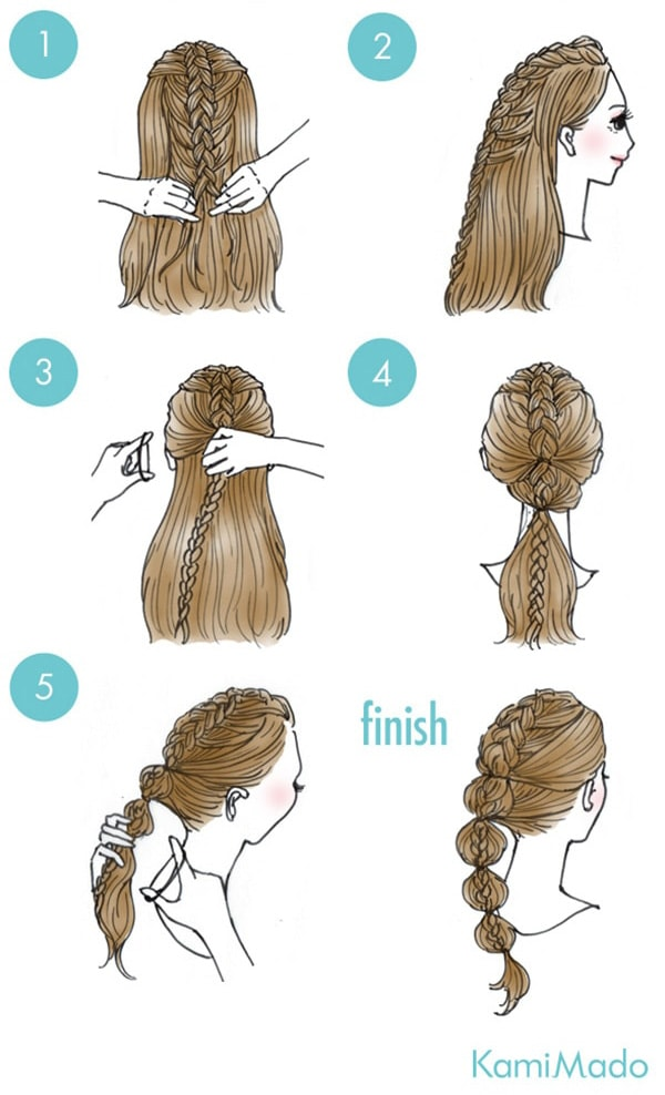 BRAID TIED IN PONYTAIL hairstyle